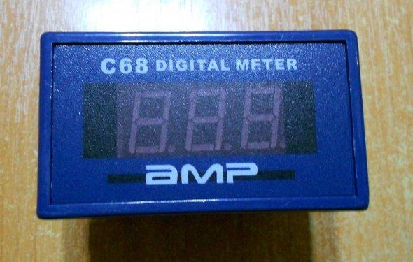 Цифровой AC амперметр 0-10А пит. от 220В: продажа, цена в