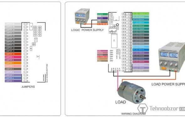 Цифровой амперметр на светодиодах в столбик