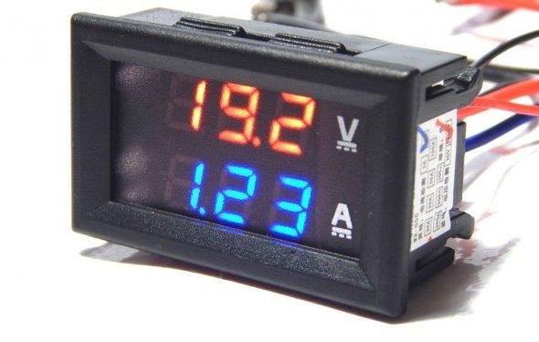 Цифровой вольтметр амперметр DC 100V 10А с шунтом: 80 грн. - Платы