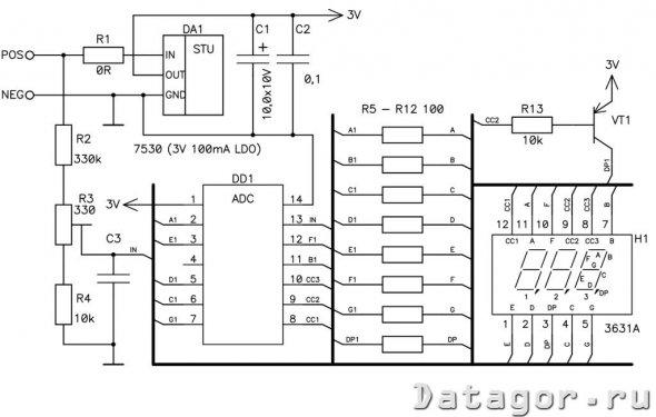 Доработка модуля китайского вольтметра » Журнал практической