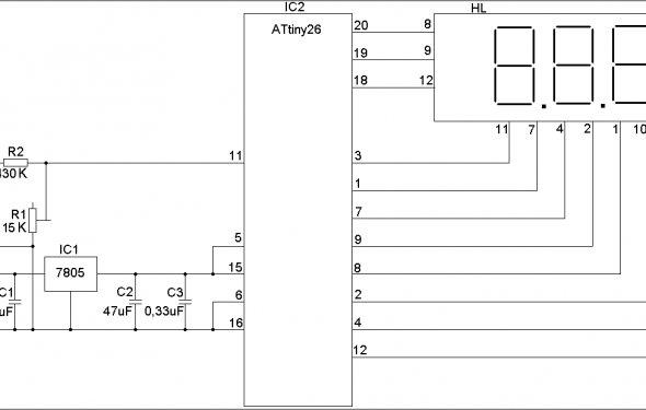 Модуль EK-2501Module - Цифровой встраиваемый вольтметр. (Готовый и