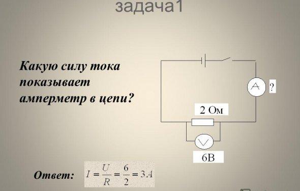 Презентация на тему: Закон Ома для участка цепи - Основной закон
