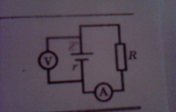 В цепи изображенной на рисунке показание амперметра 0.5 А, ЭДС = 4