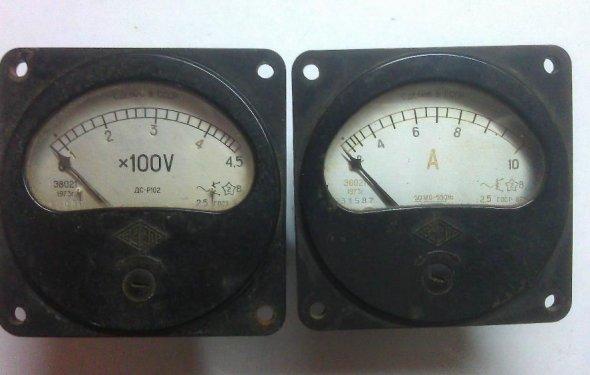Вольт-амперный комплект приборов для измерения переменного тока