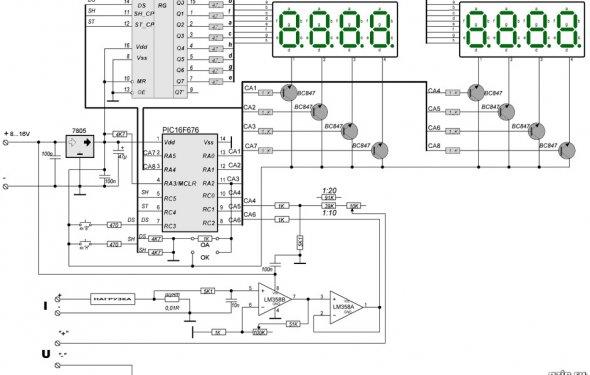Вольтамперметр на PIC16F676. Радиотехника, электроника и схемы