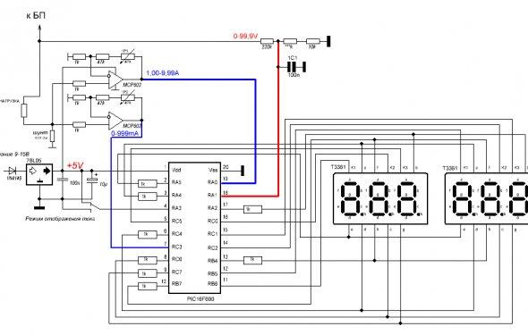 VRTP - АВТО-Суперпростой амперметр и вольметр
